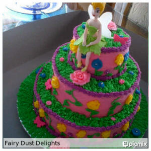 Tinkerbell Cake by Fairy Dust Delights